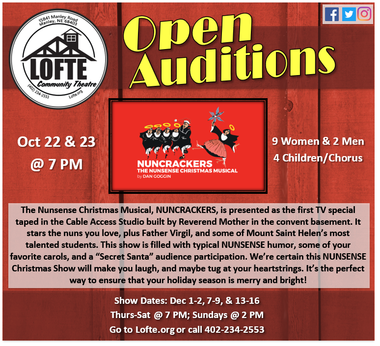 Lofte Auditions Nuncrackers