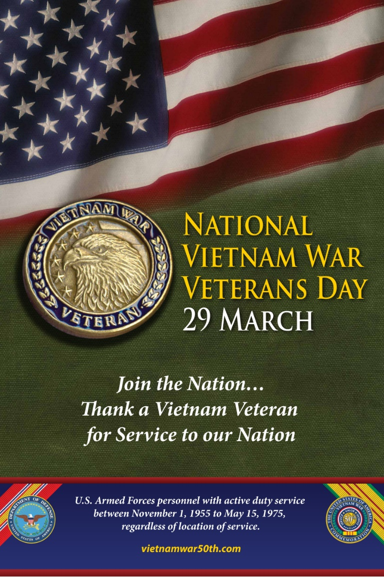 Vietnam Veterans Day Poster with Lapel Pin